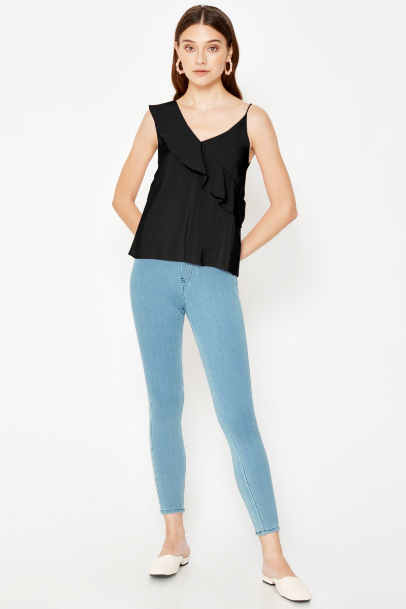 SHARNIE RUFFLE LAYERED TOP
