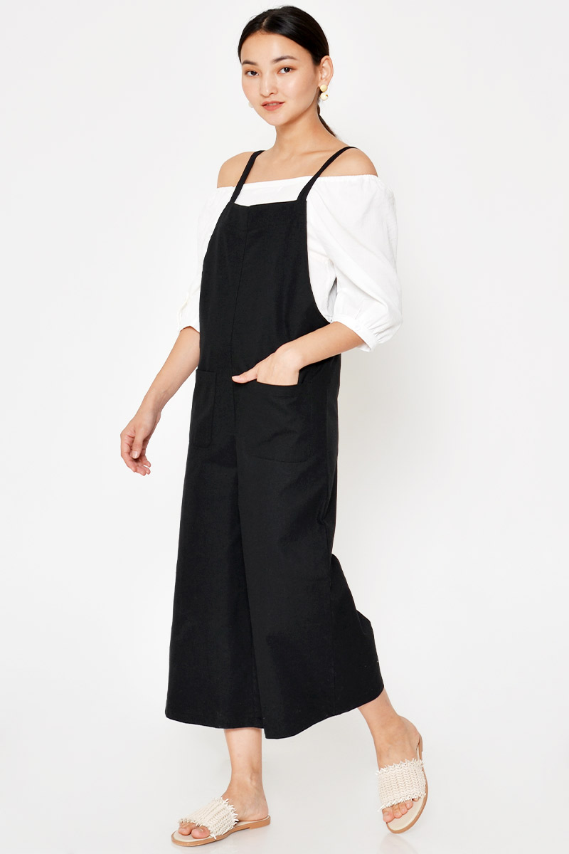DARCELLE LINEN CULOTTES OVERALLS
