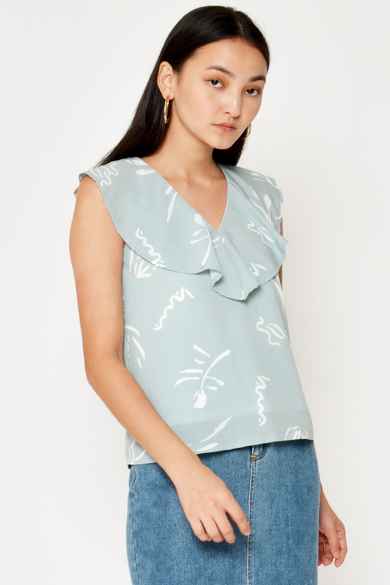 MAIVA ABSTRACT LAYERED TOP