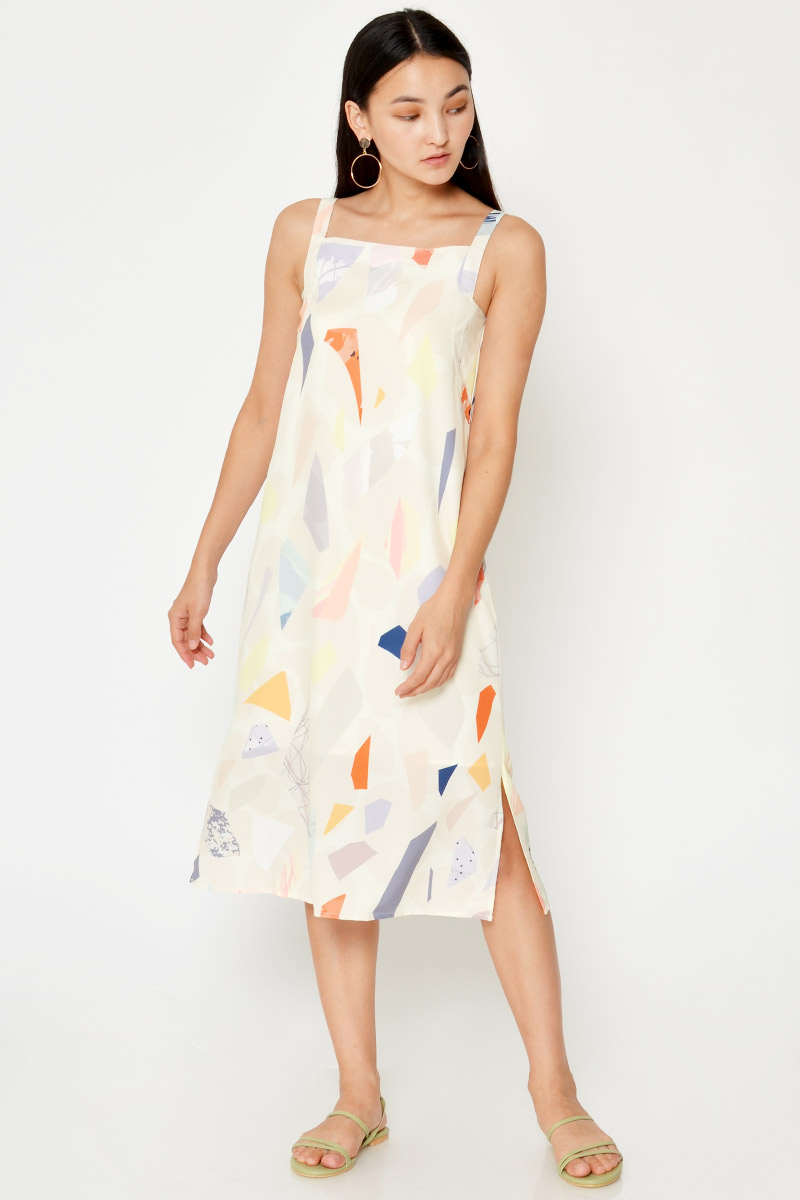 *BACKORDER 2* PERLIN ABSTRACT MIDI DRESS