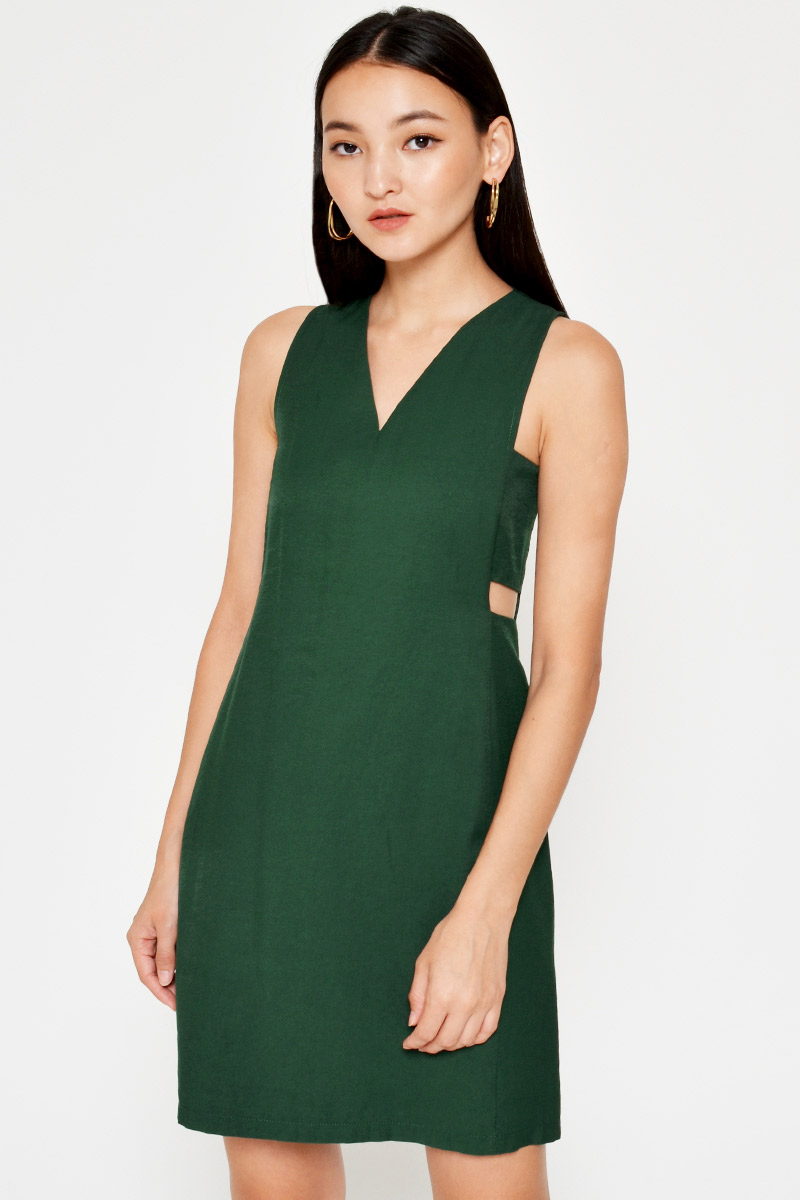 AKIVA SIDE CUTOUT DRESS