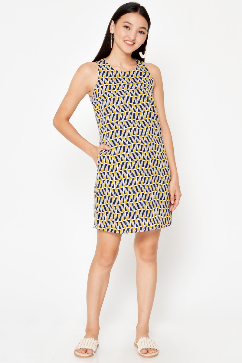 AVIA GEOMETRIC SHIFT DRESS