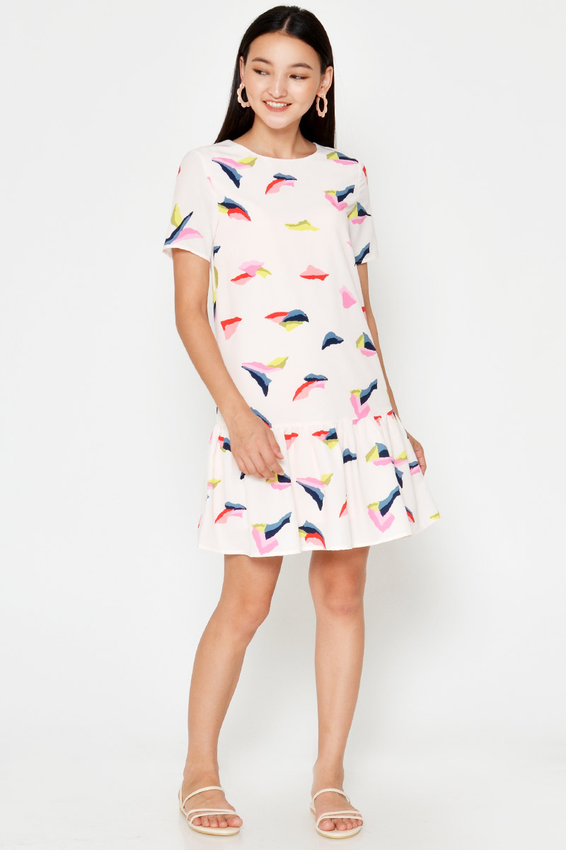 KELLINA ABSTRACT DROPWAIST DRESS
