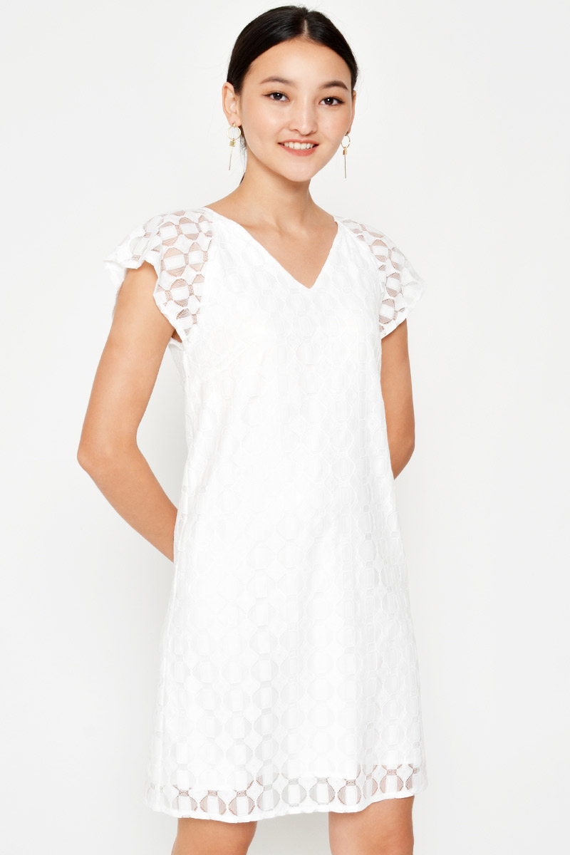 TANETH LACE SHIFT DRESS