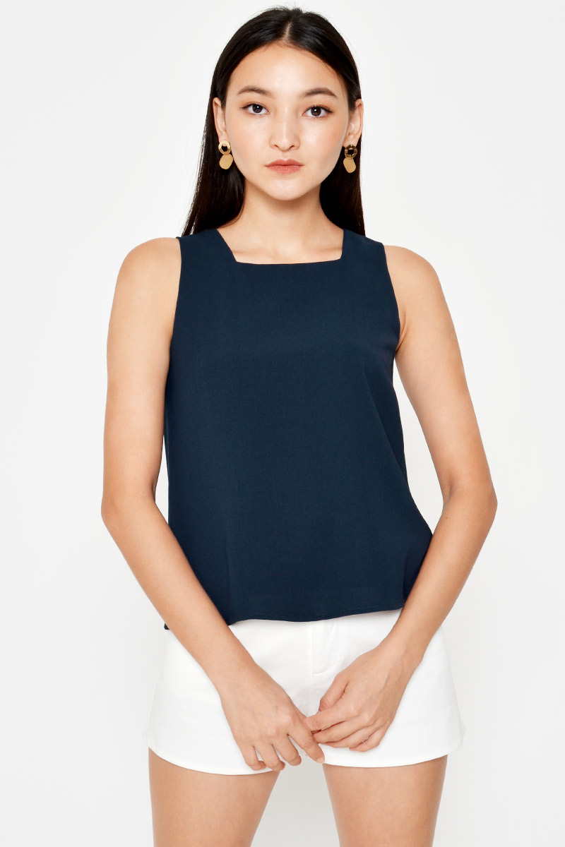 VALLIE SQUARE NECK TOP