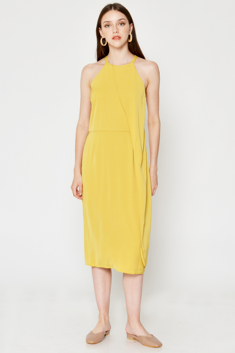 KERIS LAYERED MIDI DRESS
