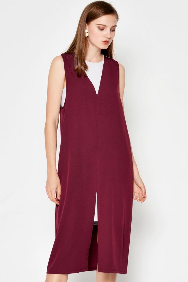 EDEN SPLITHEM TWO-PIECE LAYERED DRESS
