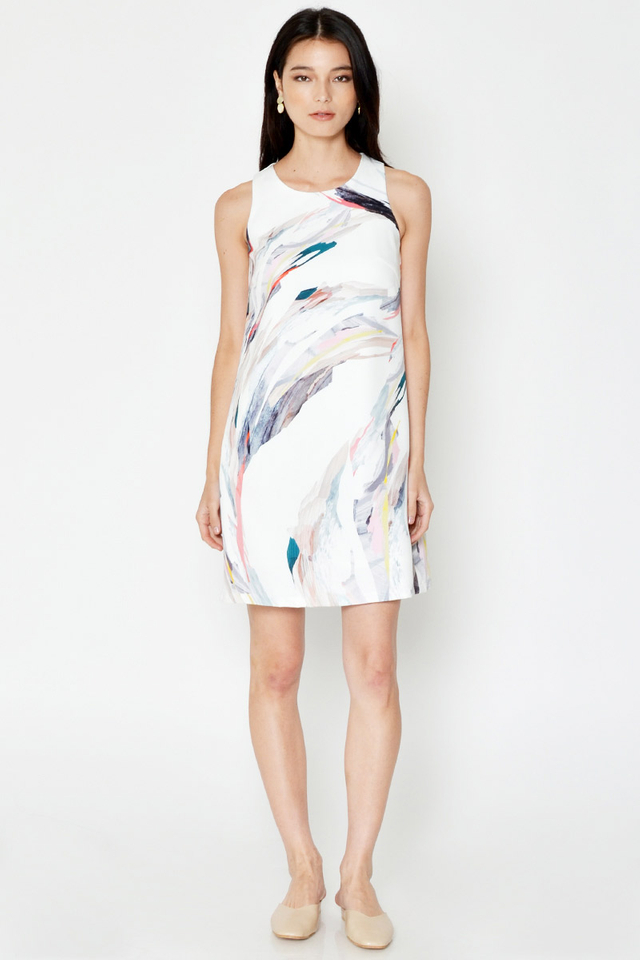 *BACKORDER* GLETIA ABSTRACT PRINT SHIFT DRESS