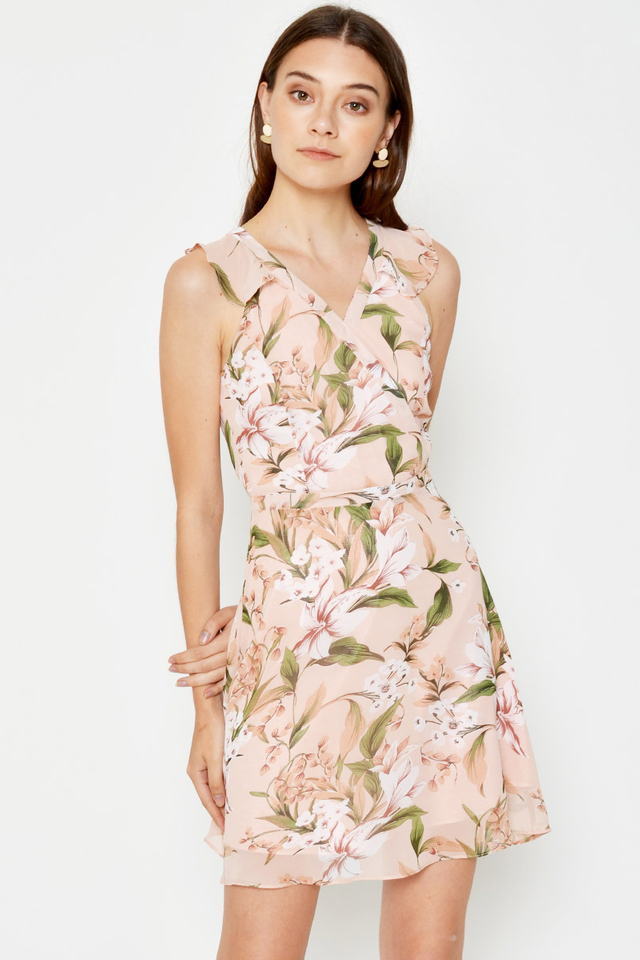 ASHLEIGH FLORAL FLARE DRESS