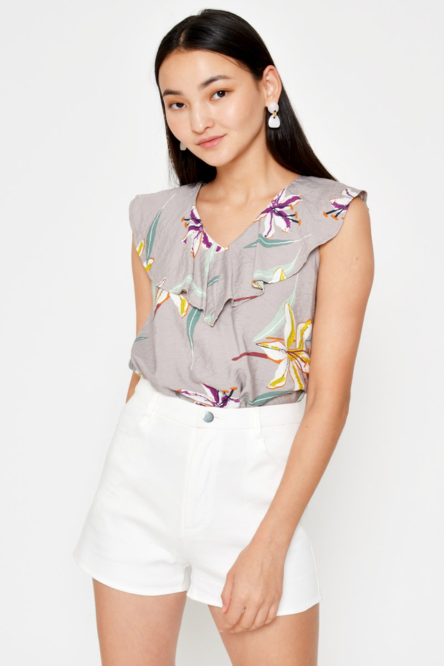 DANDRE FLORAL LAYERED TOP