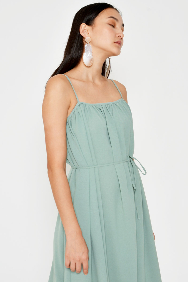 MELLIE RUCHED MAXI DRESS W SASH