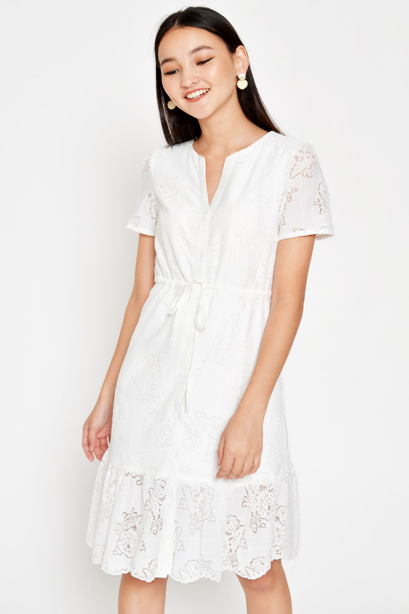 *BACKORDER* CALLIE LACE DRAWSTRING DRESS