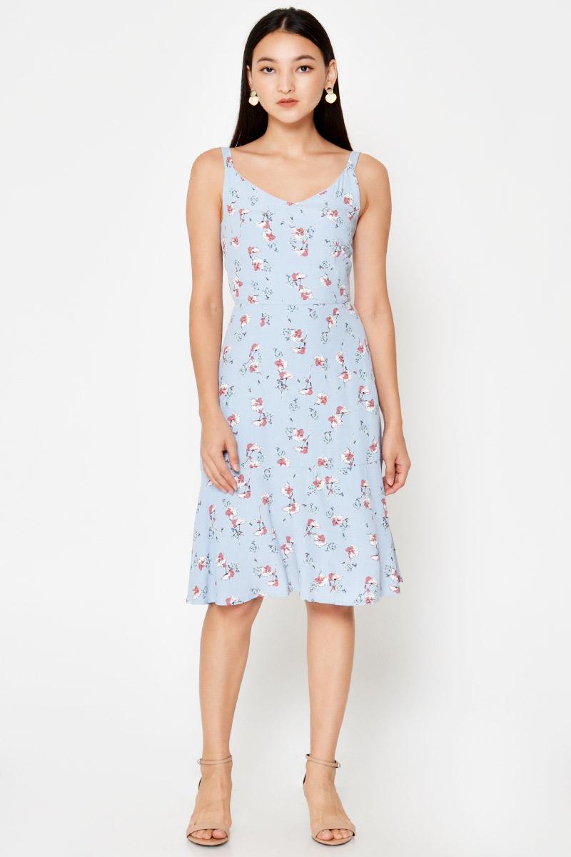 EINER FLORAL FLARE DRESS