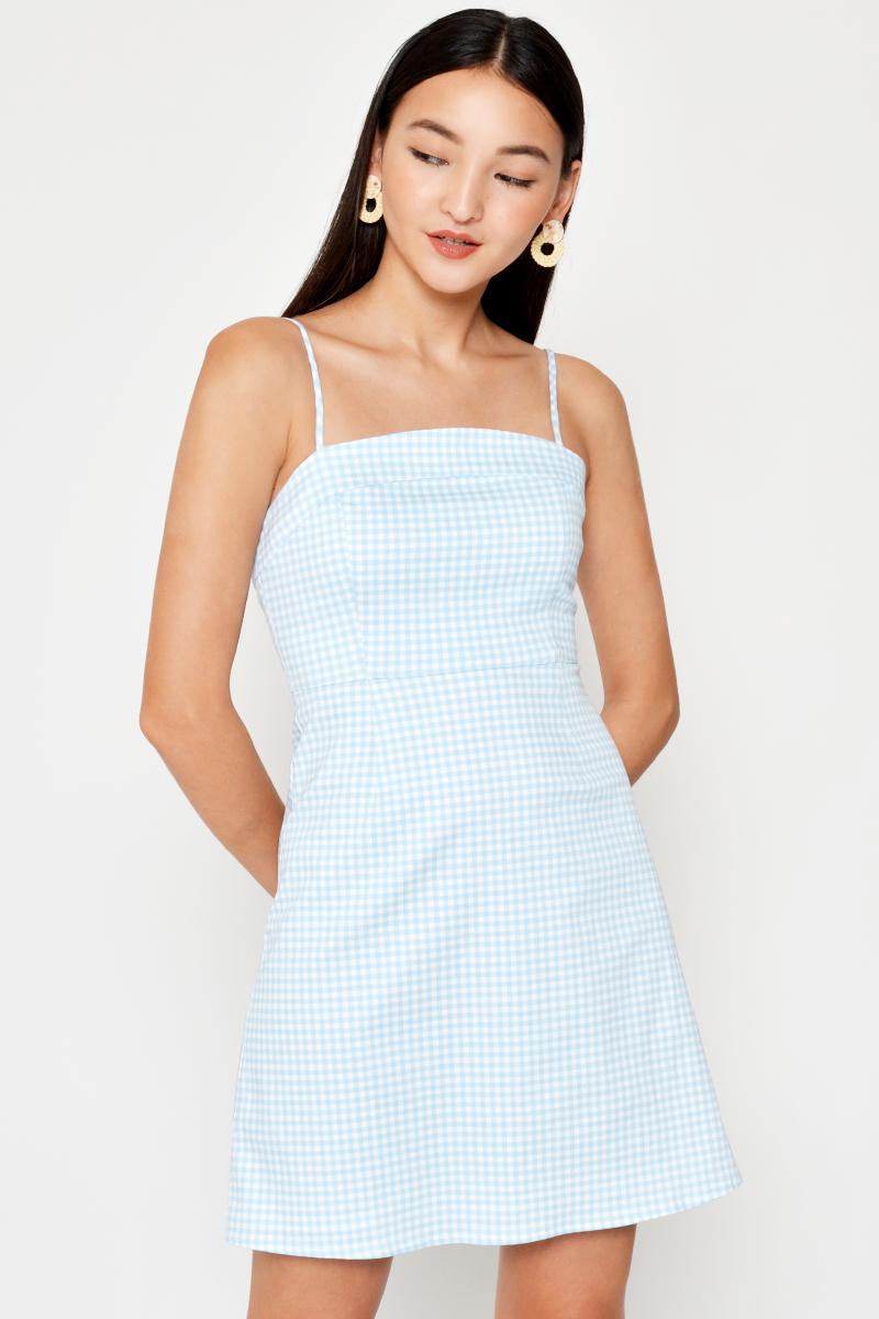 Olsen Checkered Mini Dress Love And Bravery
