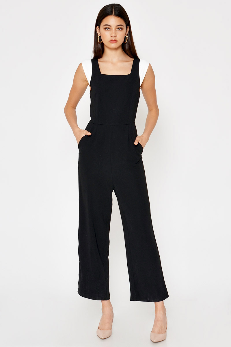 CARA CONTRAST SLEEVES JUMPSUIT