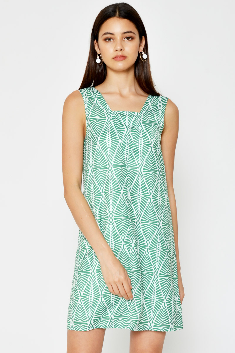 DANIELA ABSTRACT CUTOUT DRESS