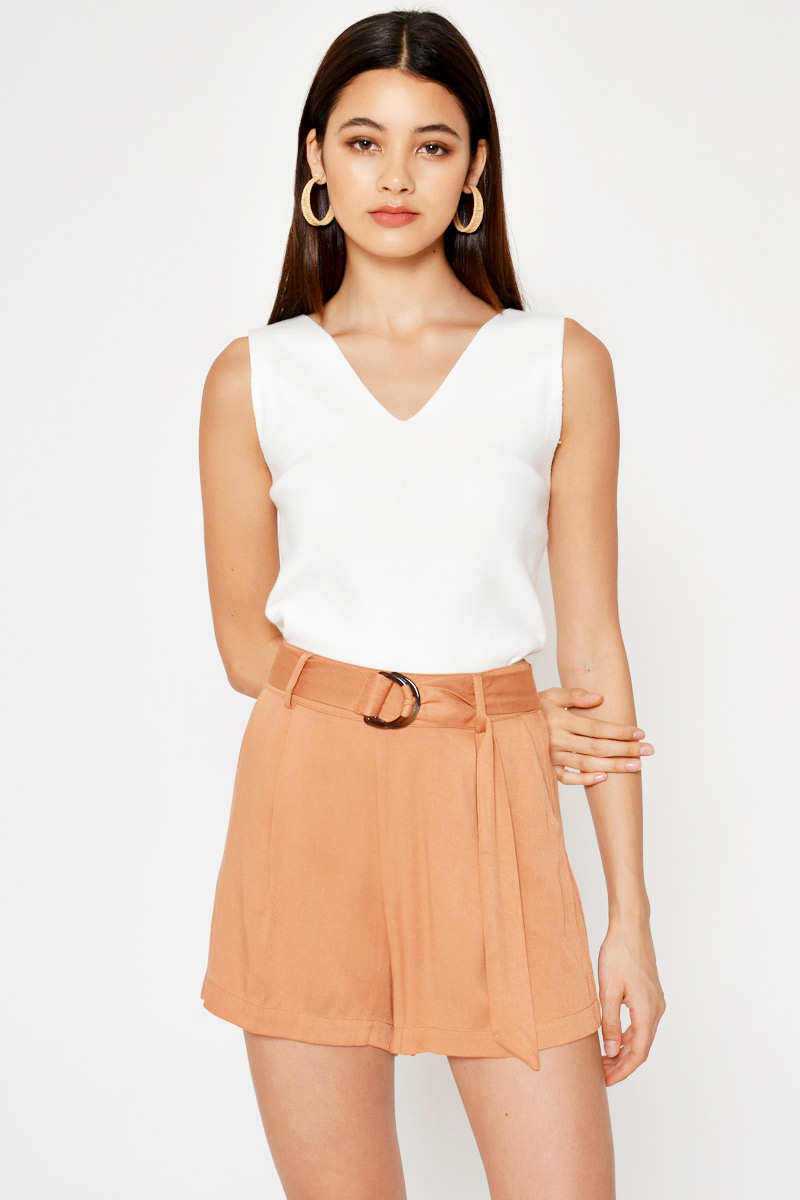 FIRO TENCEL SHORTS W D-RING BELT