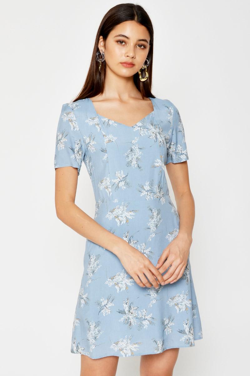 LORNA FLORAL FLARE DRESS
