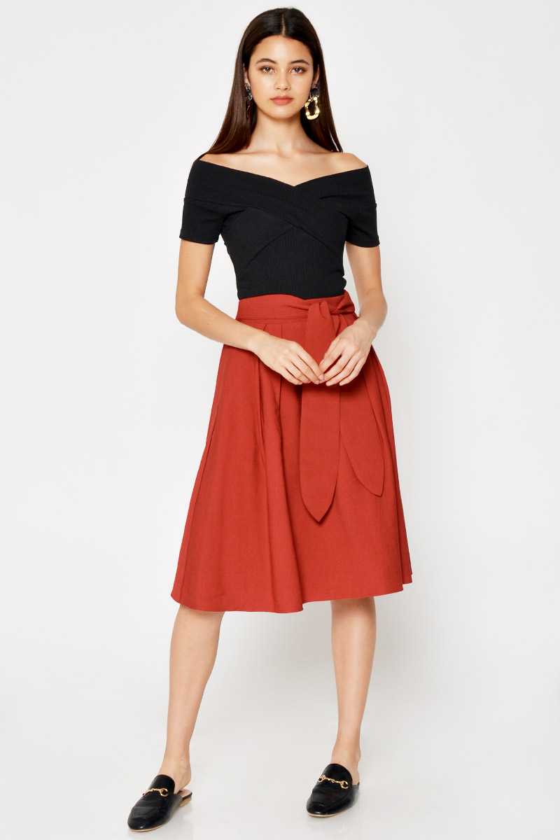 REGAN MIDI SKIRT