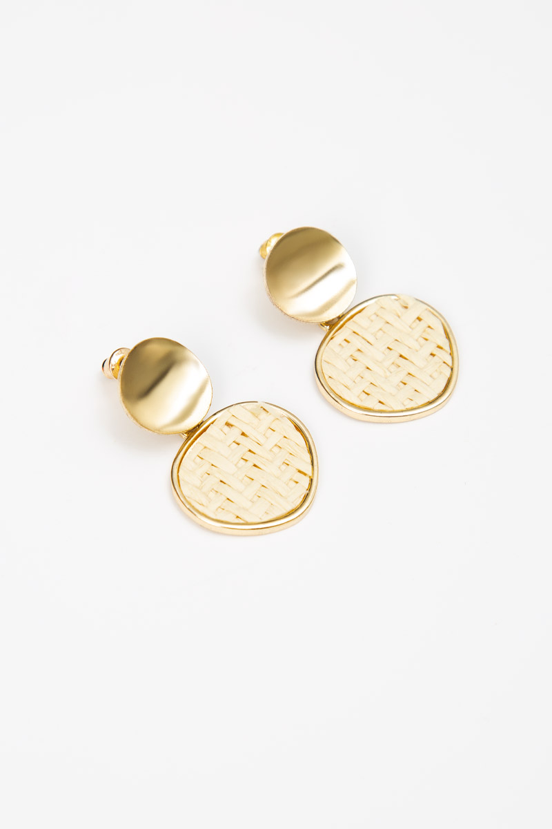 GOLD WEAVE EARRINGS