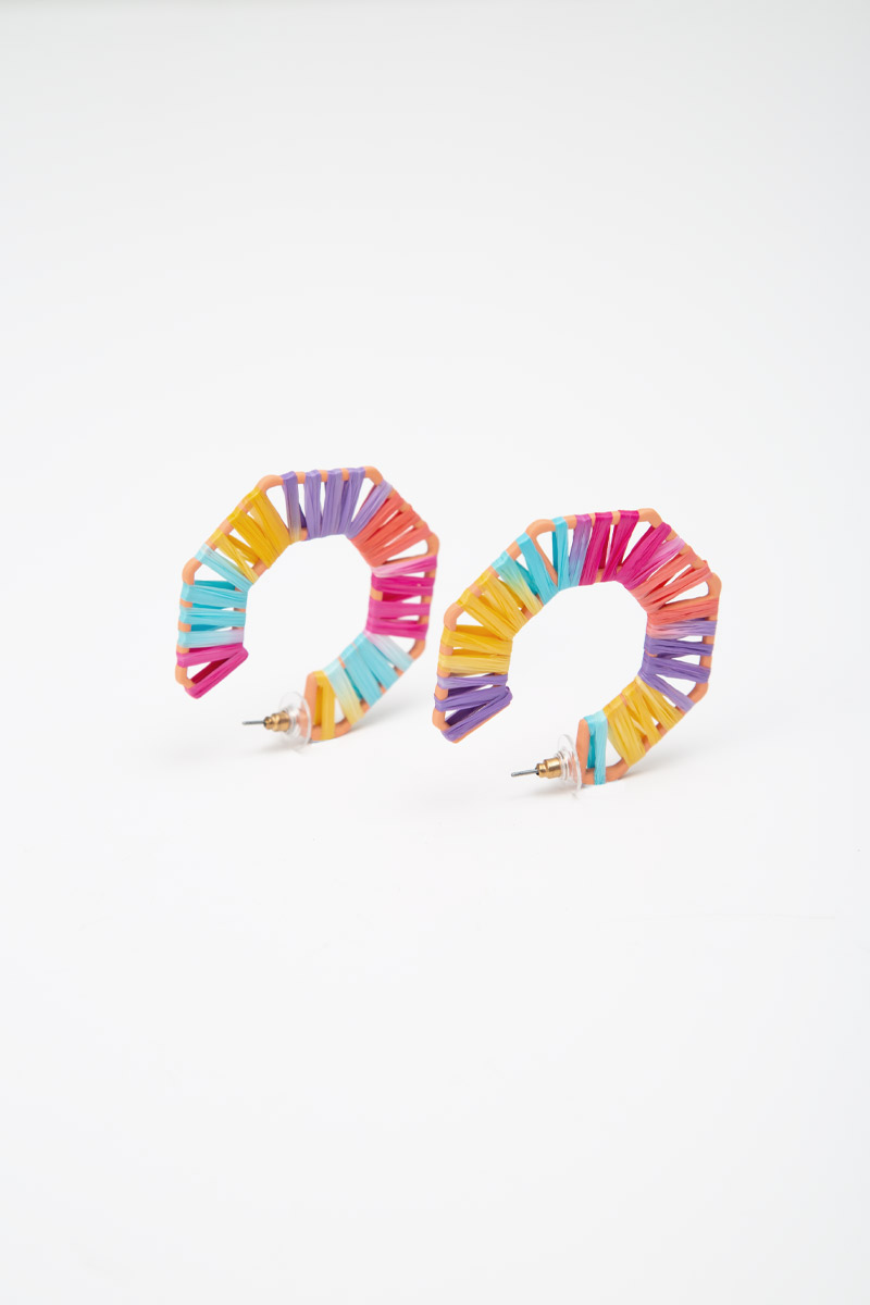 RAINBOW WEAVED NANOGON EARRINGS
