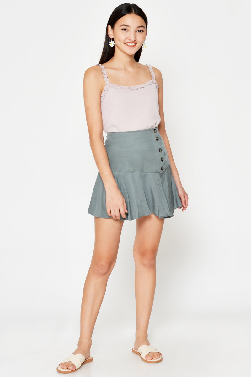 LIZZY TENCEL BUTTON SKORTS