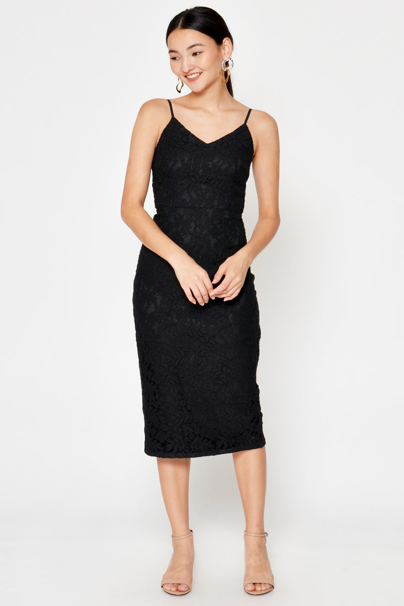 SHERANA LACE MIDI DRESS