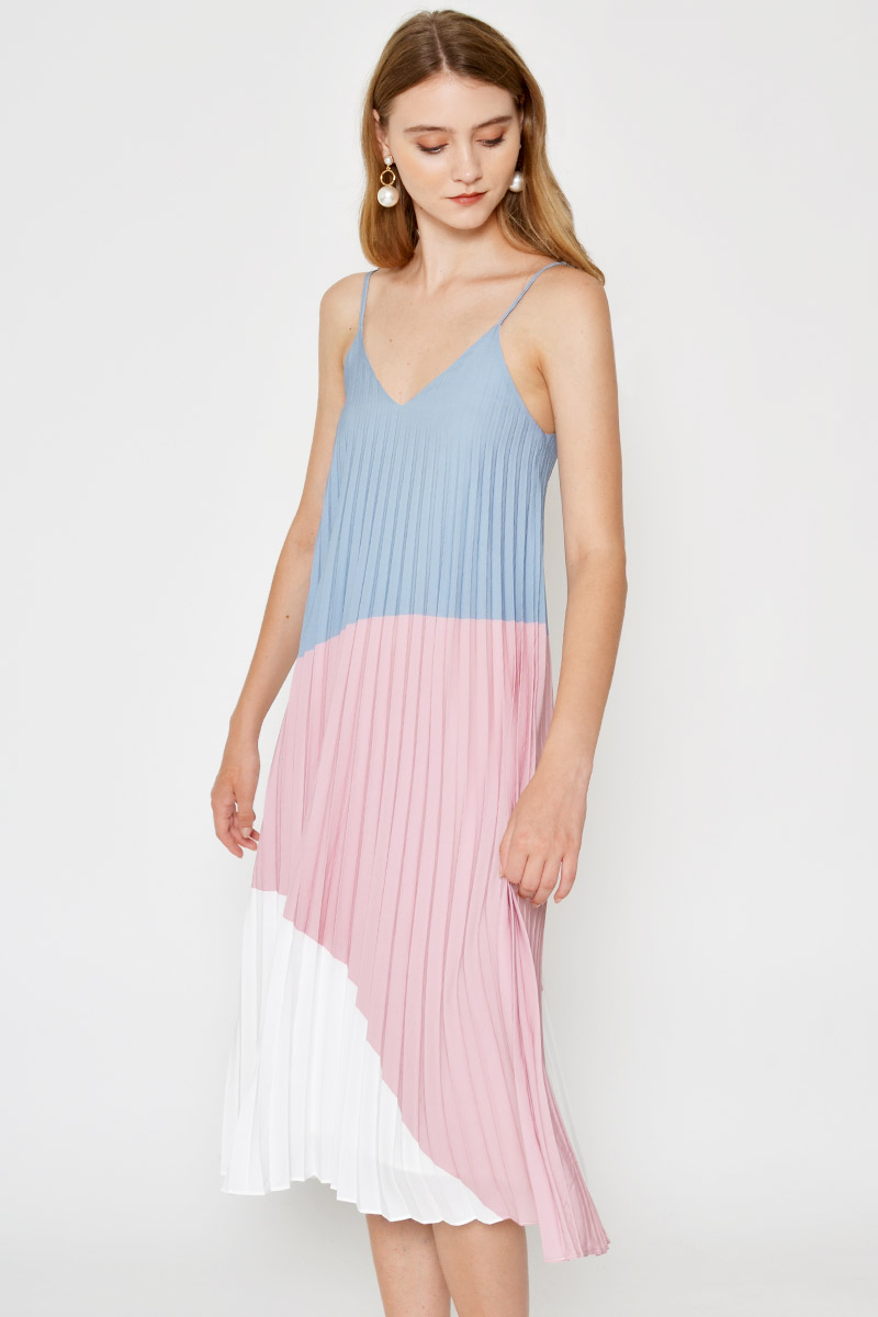 *BACKORDER* CELESTYN PLEATED MIDI DRESS