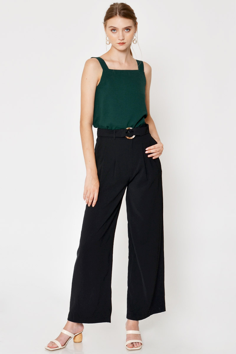 MILA HIGHWAIST PANTS W TORTOISESHELL BELT