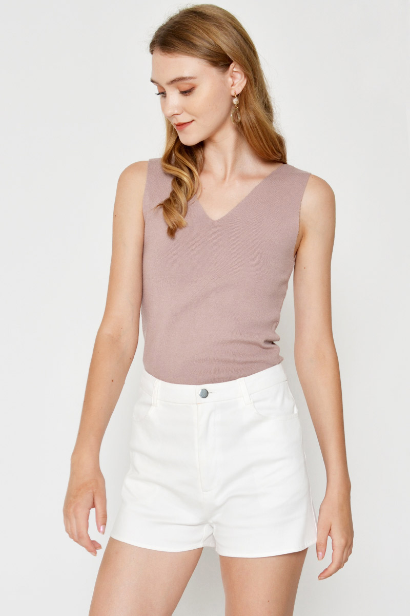 PIA VNECK KNIT TOP