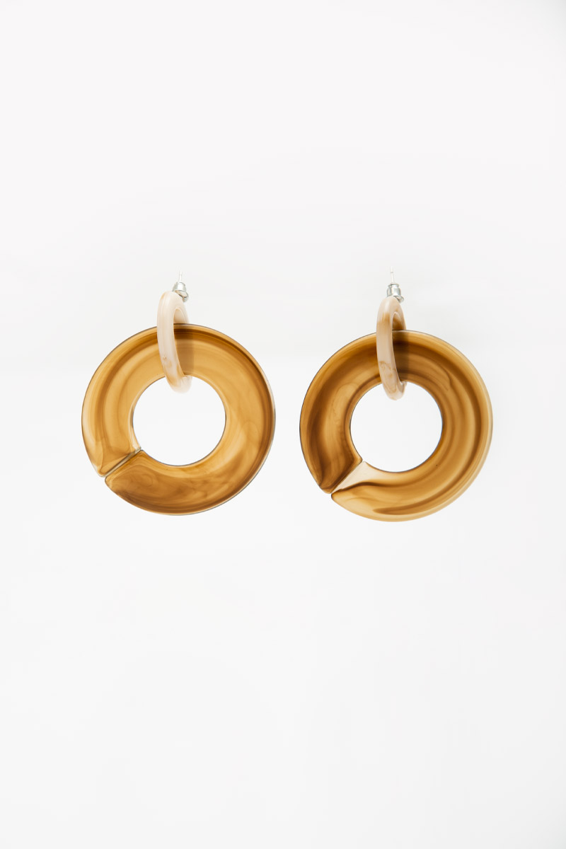 MARBLE LOOP EARRINGS