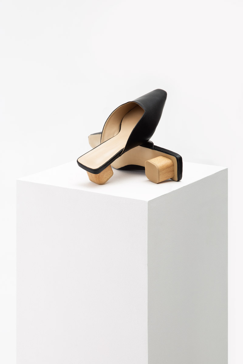 ORA WOODEN BLOCK HEELS