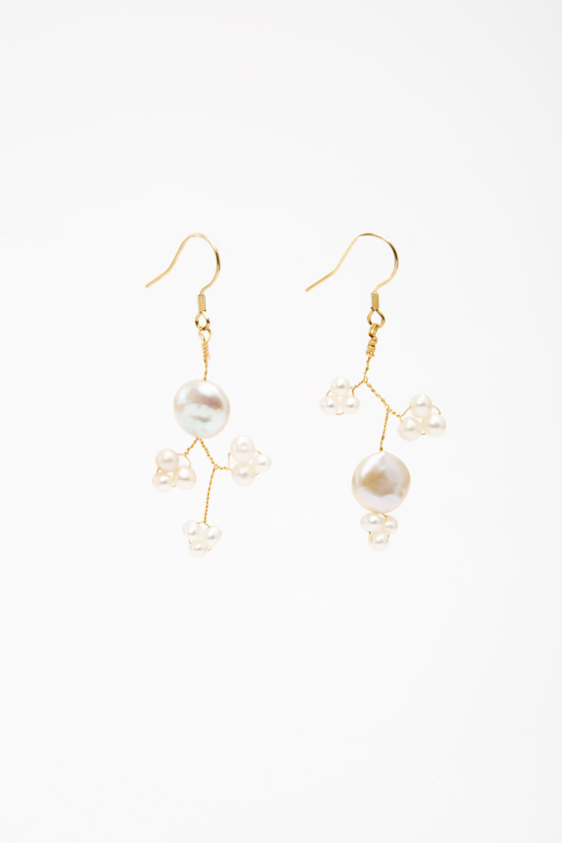 PEARL BRANCH DANGLE EARRINGS
