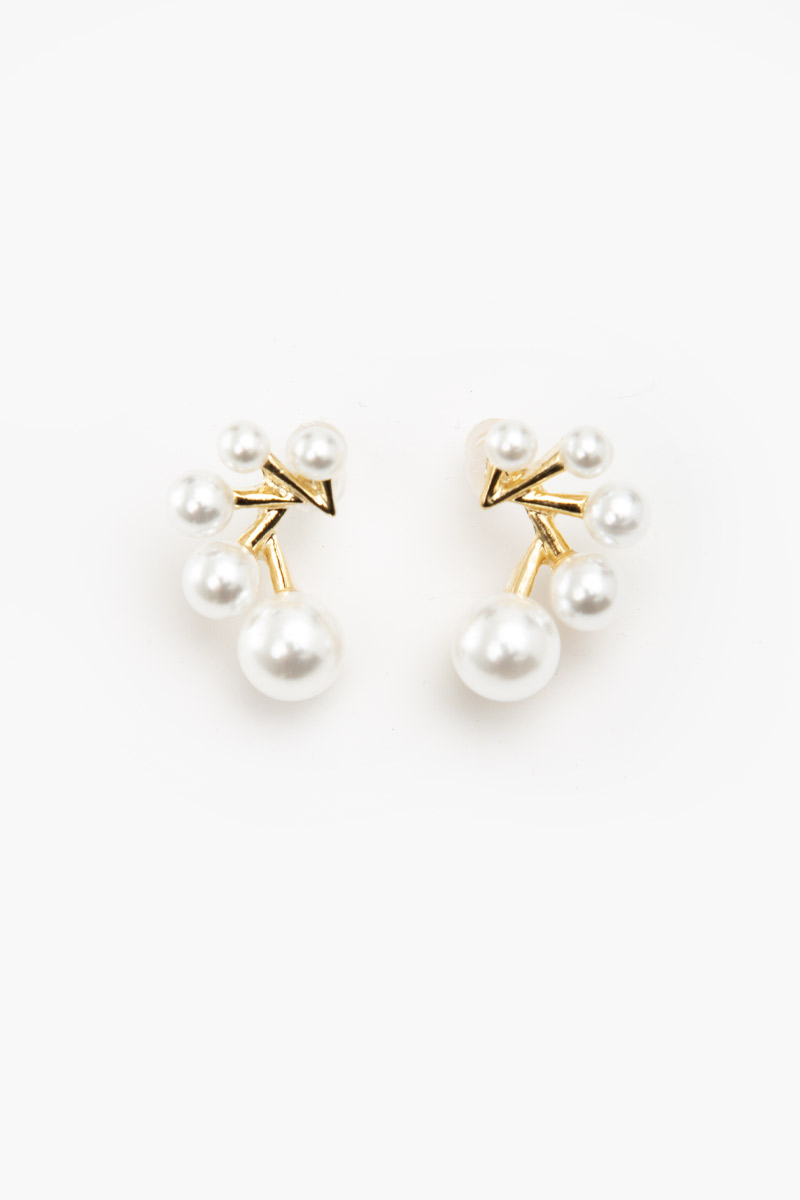 QUINTUPLE PEARL EARRINGS