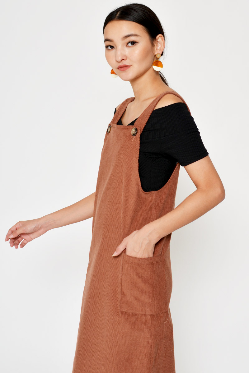 BESSIE CORDUROY OVERALL DRESS