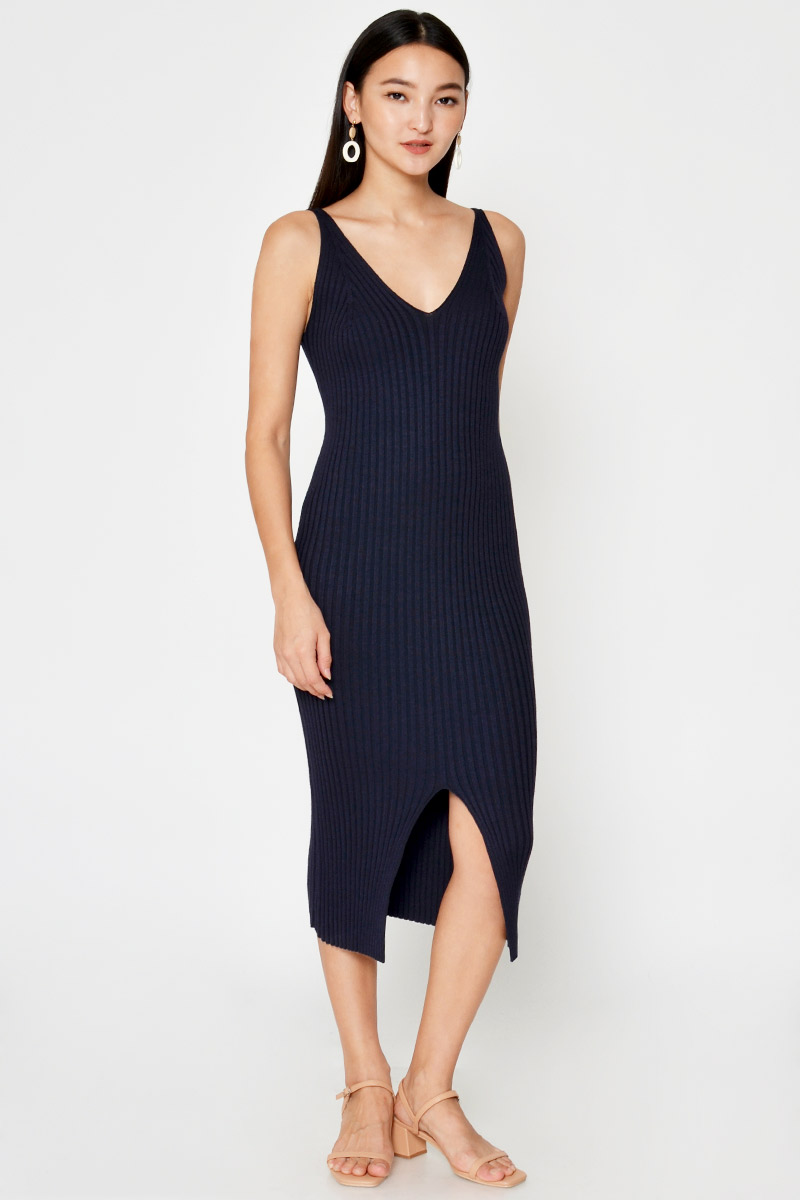 KARLYN KNIT MIDI DRESS