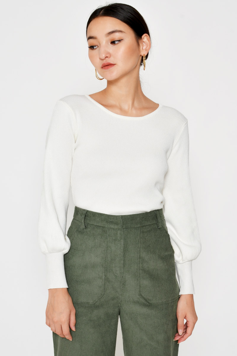 NATALYA BALLOON SLEEVE KNIT TOP