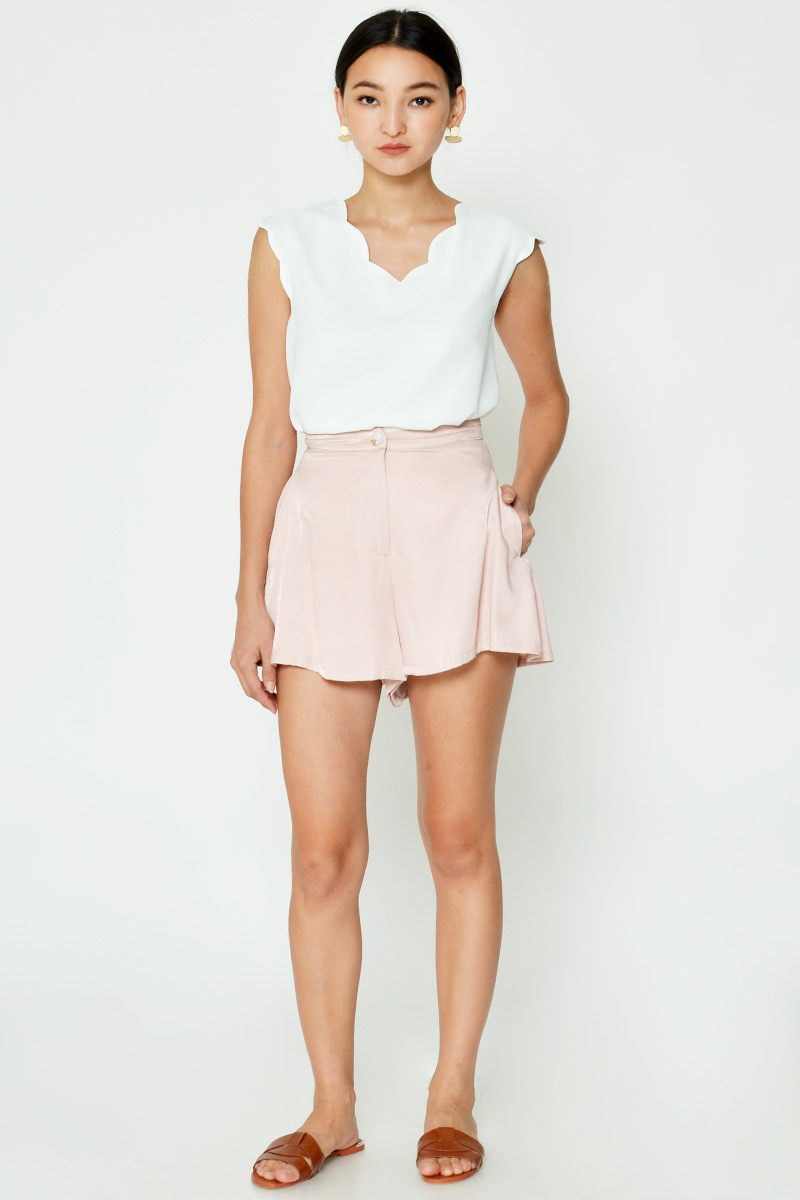 STEFFY TENCEL FLARE SHORTS