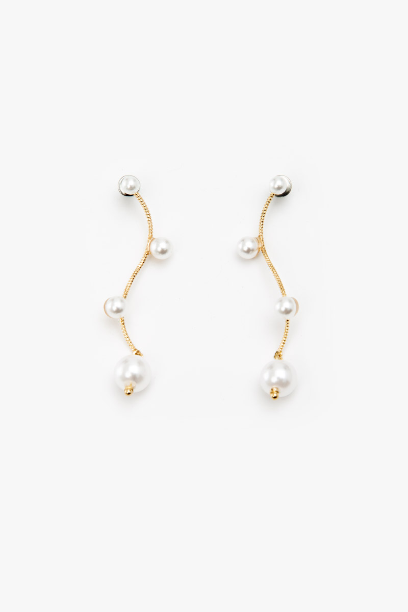 PEARL SWIRL DROP EARRINGS