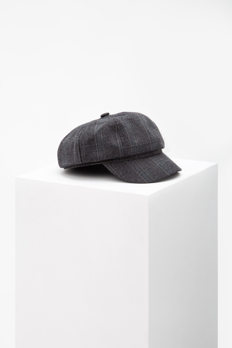 PLAID BAKER BOY HAT