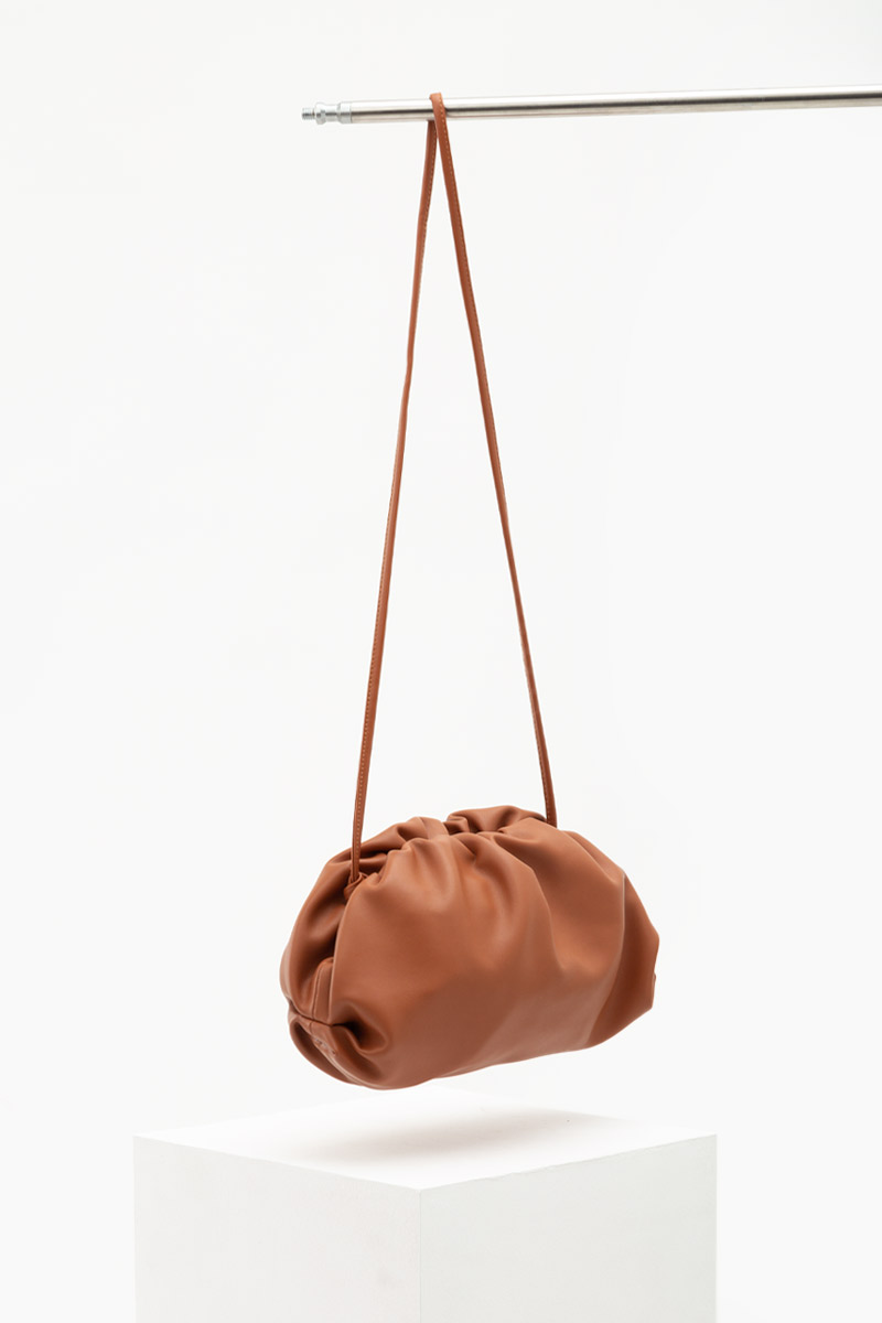 *BACKORDER* SOFT LEATHER DUMPLING BAG (LARGE)