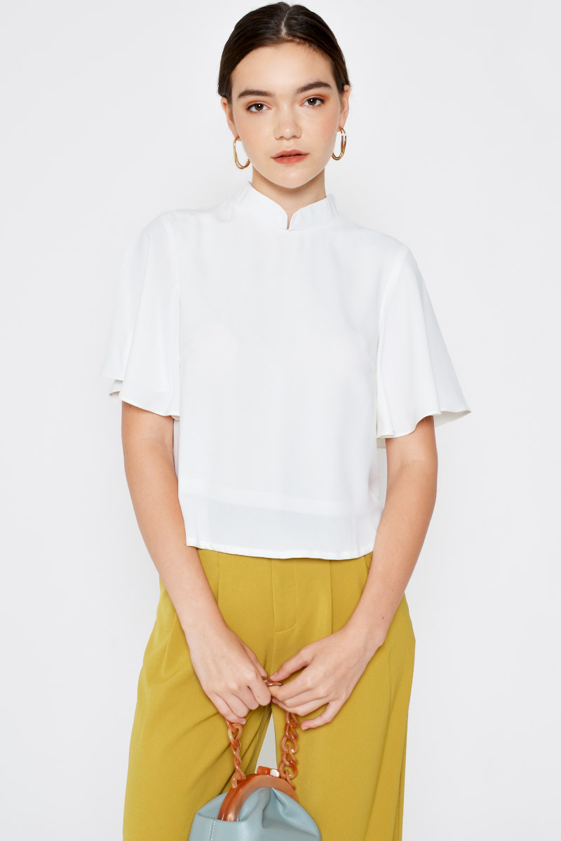 CHARLY MANDARIN COLLAR TOP