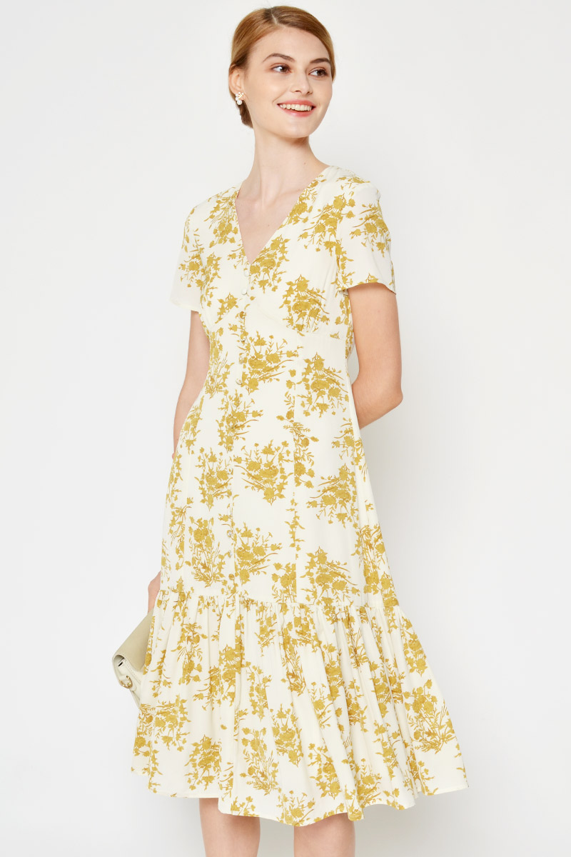 JORIS FLORAL MIDI DRESS