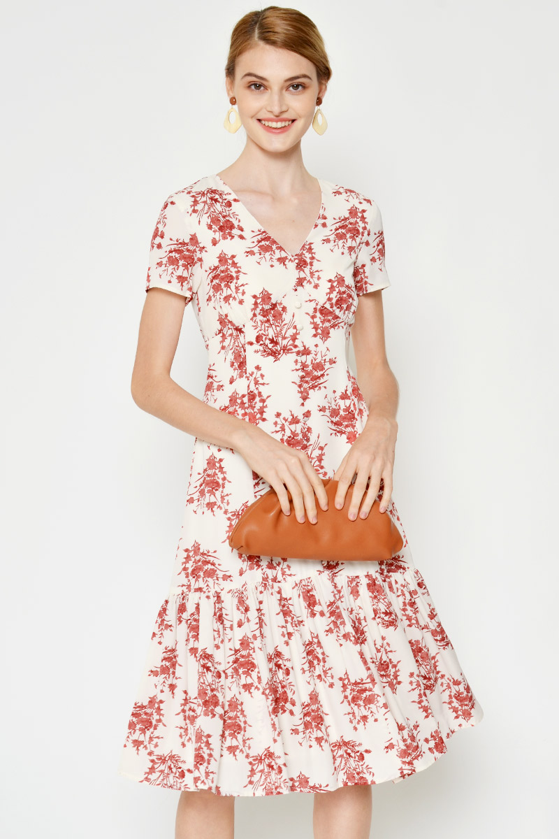 *BACKORDER* JORIS FLORAL MIDI DRESS