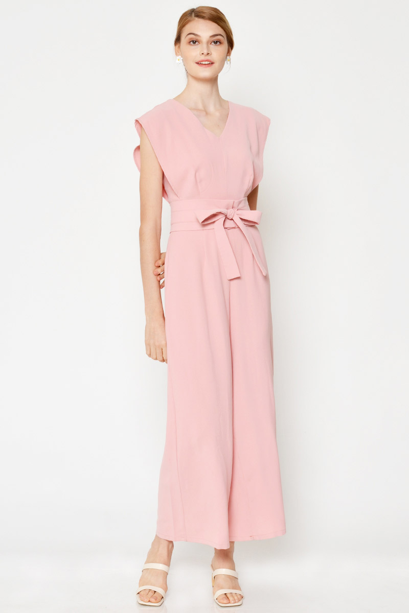 HALLEY FLARE JUMPSUIT W OBI BELT