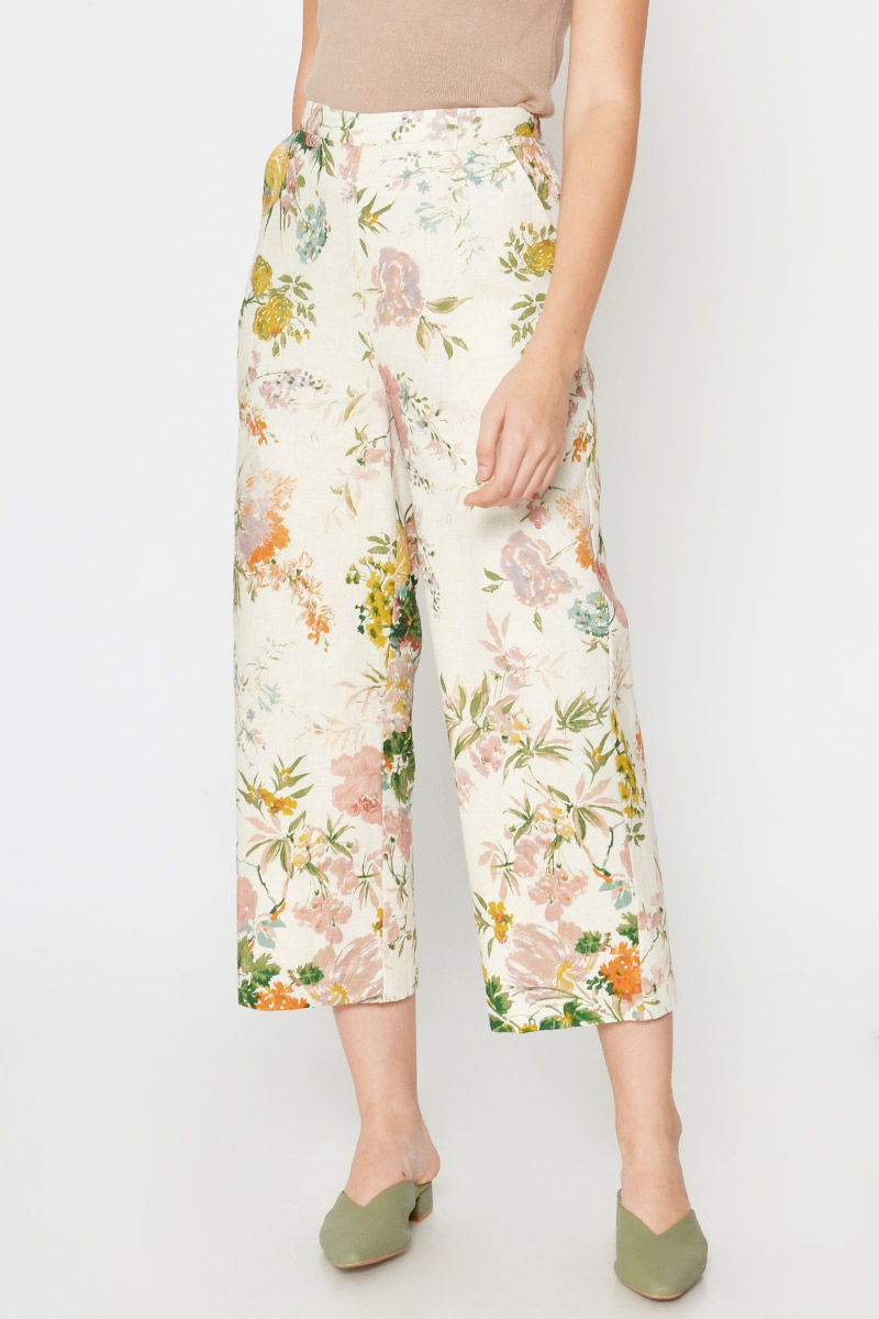 BYNDI FLORAL HIGHWAIST PANTS