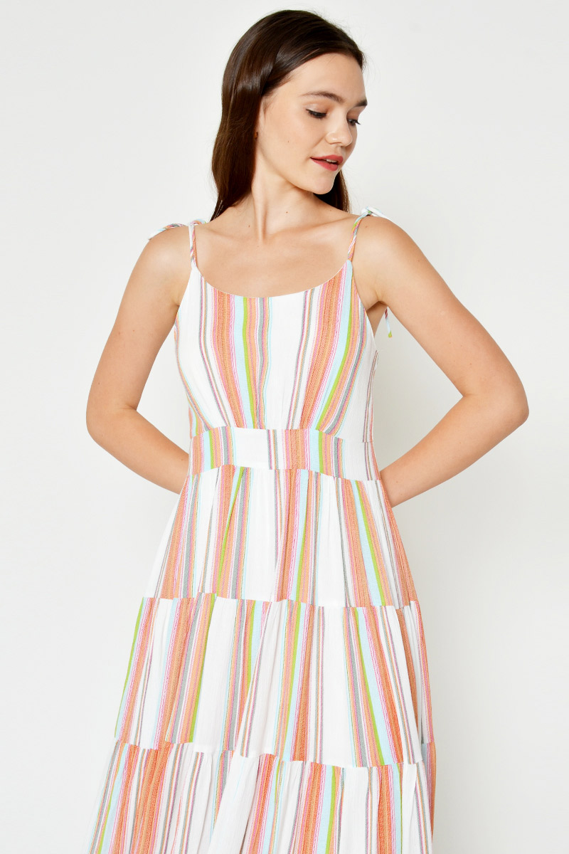 CHELSEY MULTICOLOURED MAXI DRESS