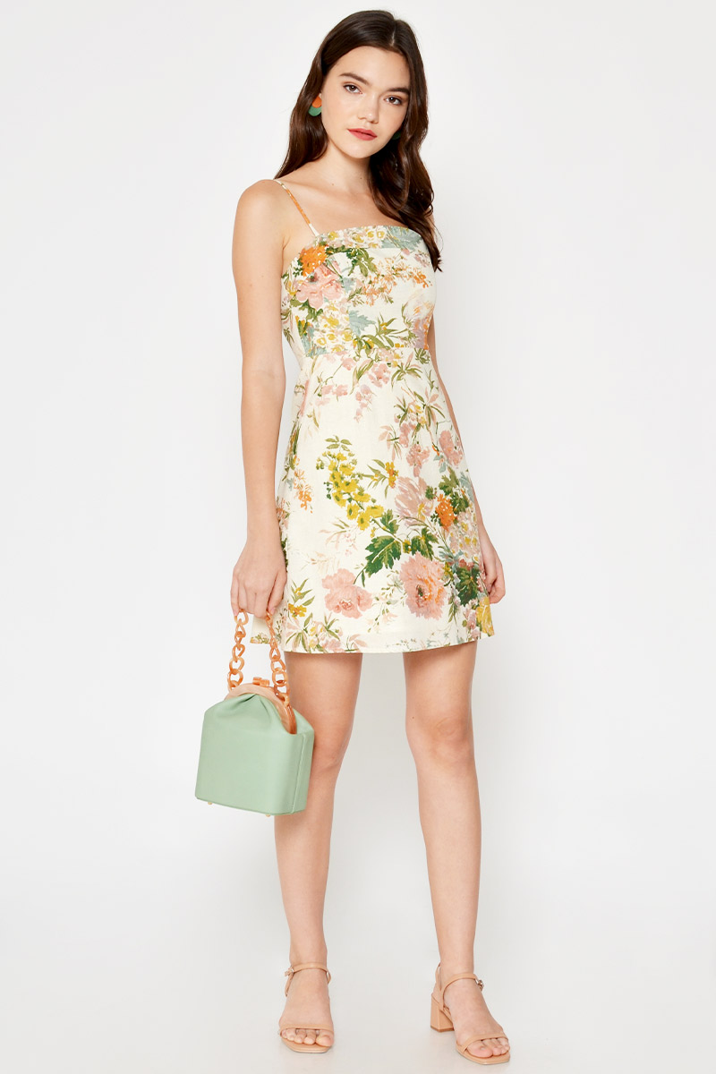 LYNSIE FLORAL MINI DRESS