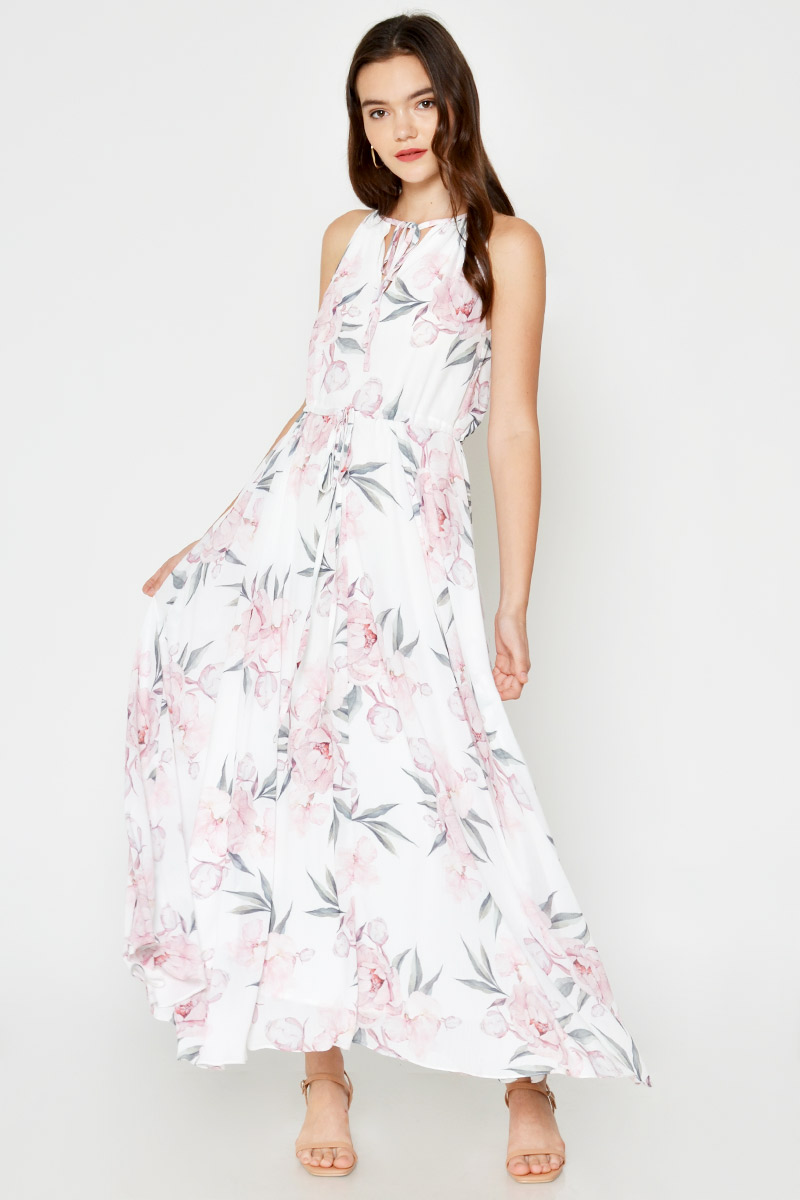 WILLOW FLORAL HALTER MAXI DRESS