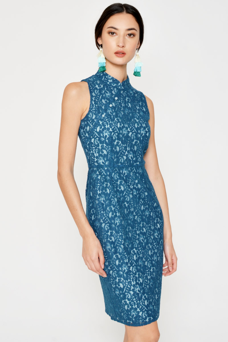 DALYSA CHEONGSAM SHEATH DRESS